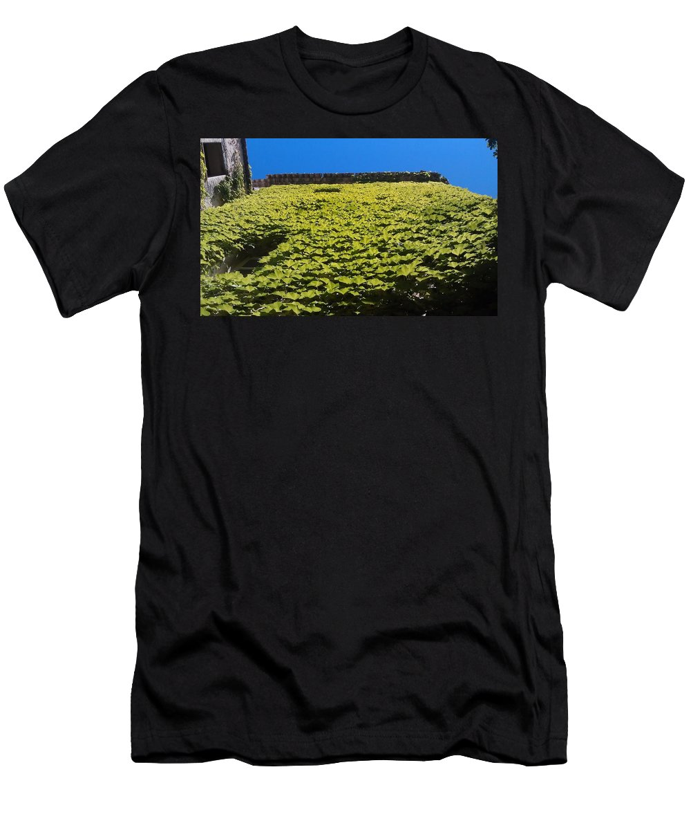 Men's T-Shirt (Athletic Fit) featuring the photograph Green Wall In Saint Paul by Andres Chauffour