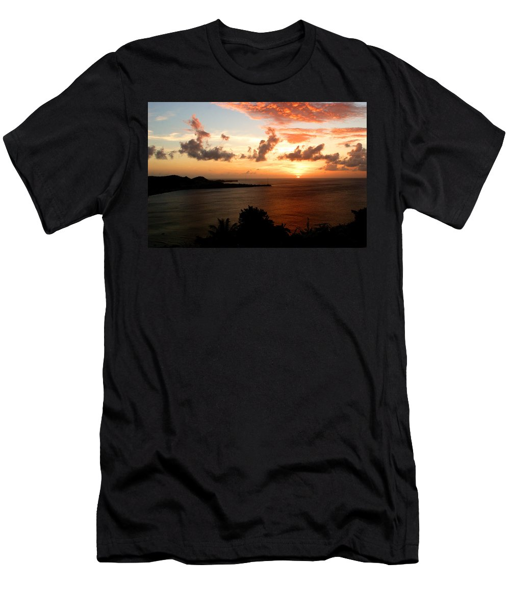Sunset Men's T-Shirt (Athletic Fit) featuring the photograph Grenadian Sunset II by Jean Macaluso