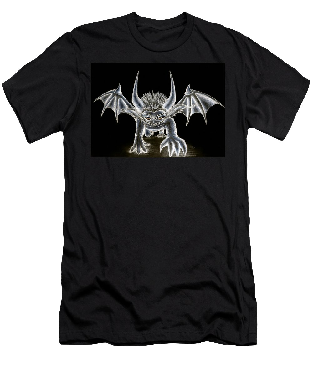 Demon Men's T-Shirt (Athletic Fit) featuring the painting Grevil Pastel by Shawn Dall