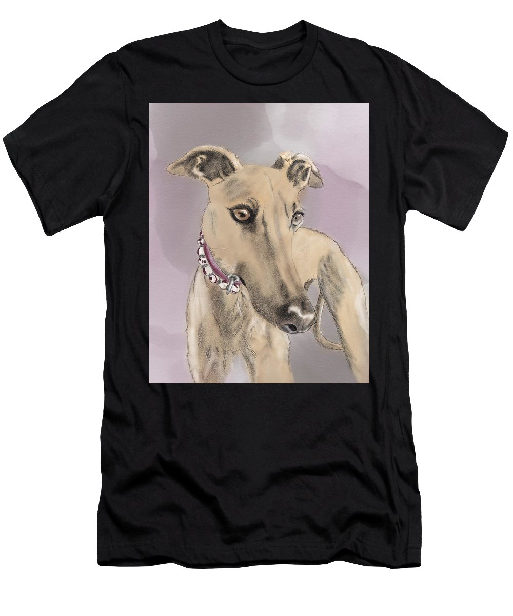 Greyhound Men's T-Shirt (Athletic Fit) featuring the digital art Greyhound by Erin Salazar