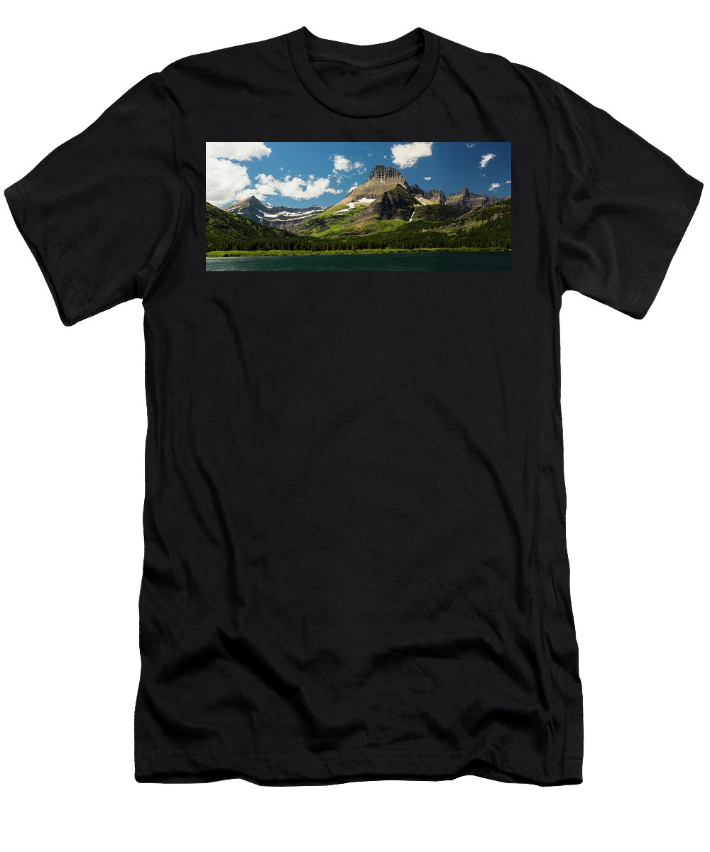 Gnp Men's T-Shirt (Athletic Fit) featuring the photograph Grinell Mountain by Craig Tata