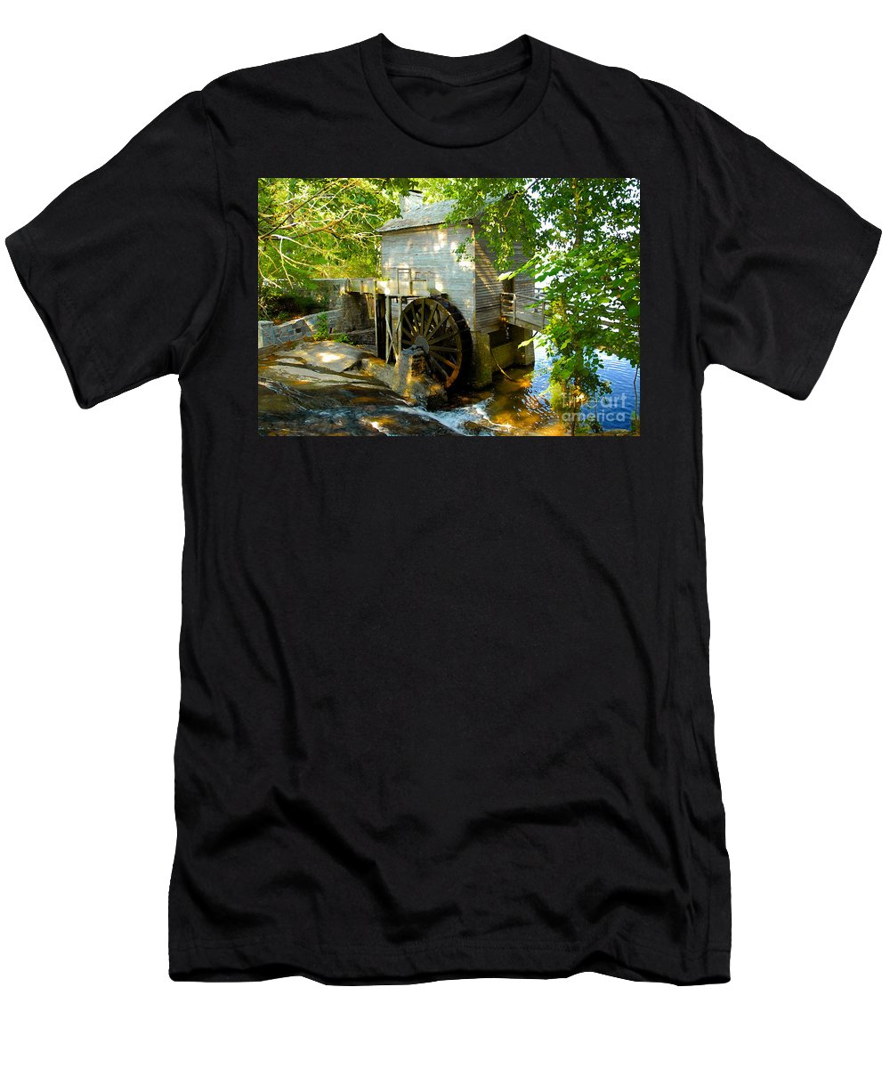 Grist Mill Men's T-Shirt (Athletic Fit) featuring the photograph Grist Mill by David Lee Thompson