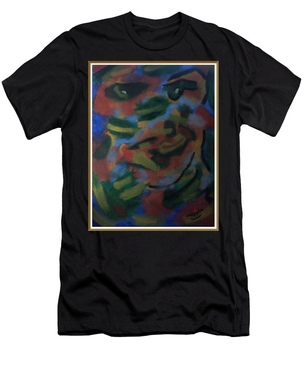 Men's T-Shirt (Athletic Fit) featuring the painting Growing The Algae Monkey Not On Trees by Jocelyn Apple
