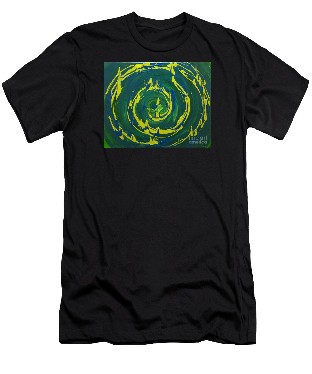 Swirl Men's T-Shirt (Athletic Fit) featuring the painting Guacamole Swirl by Preethi Mathialagan