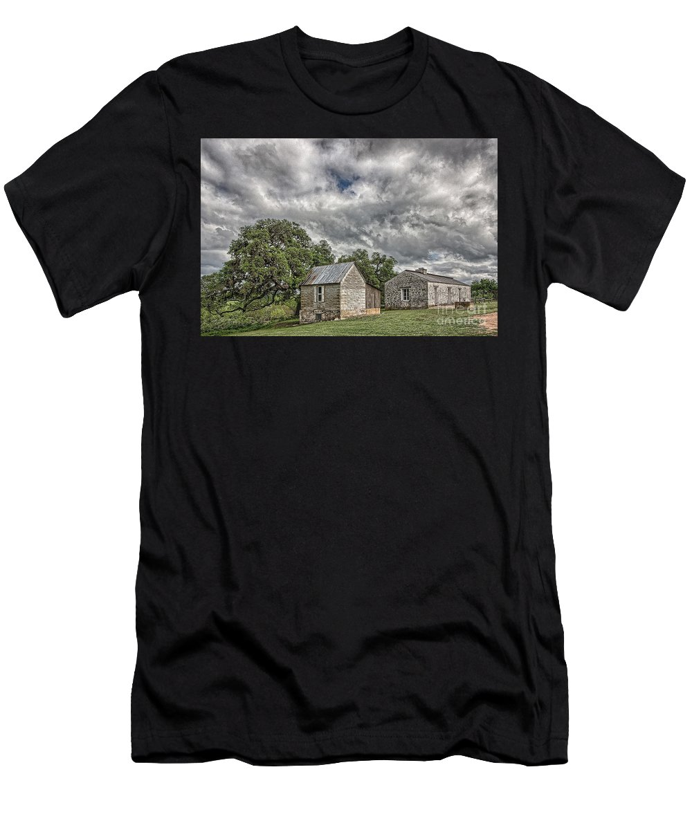 Fort Martin Scott Men's T-Shirt (Athletic Fit) featuring the photograph Guard House by Sam Stanton