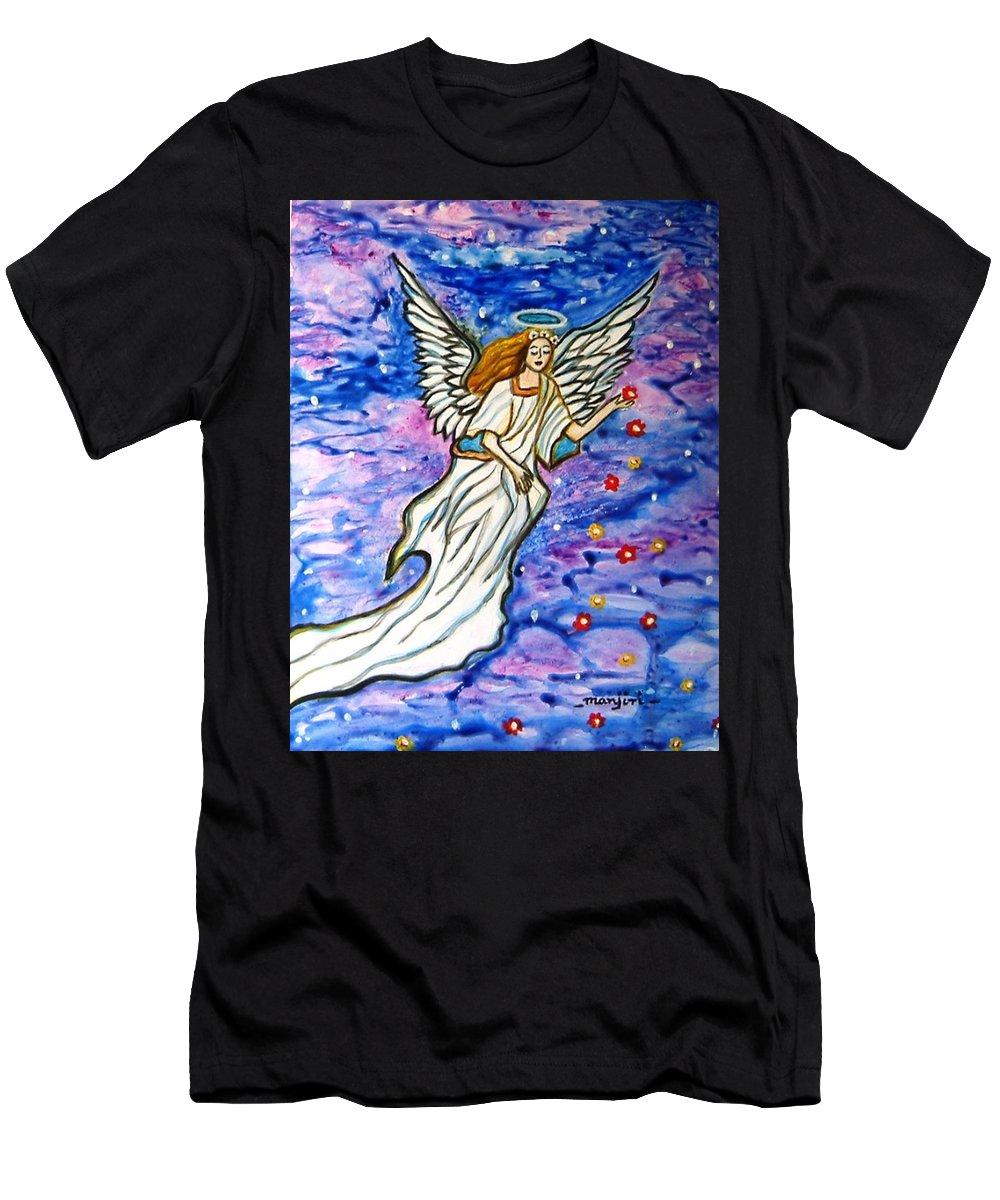 Guardianangel T-Shirt featuring the painting Guardian Angel by Manjiri Kanvinde