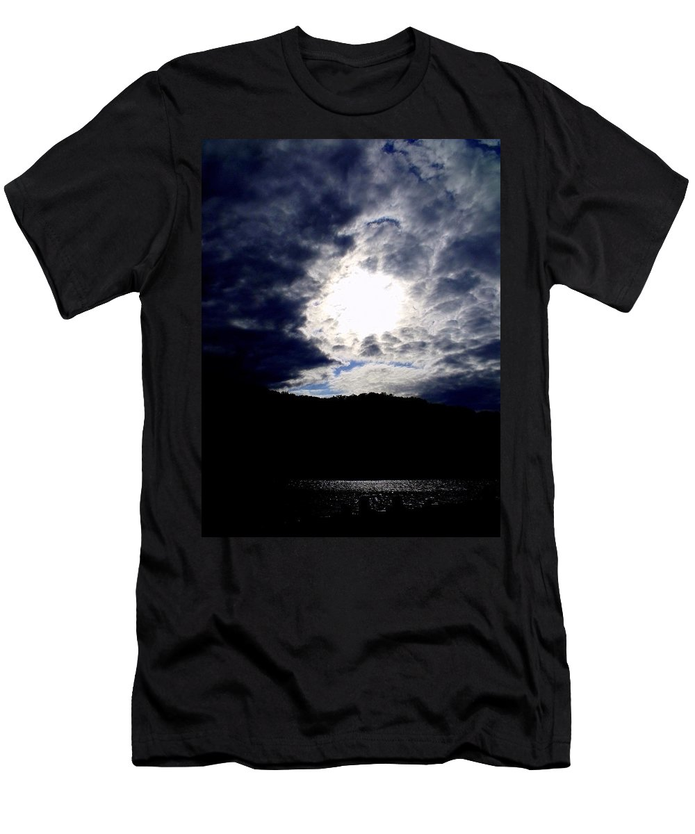 Sky Men's T-Shirt (Athletic Fit) featuring the photograph Guardian Of The Portal by Ed Smith
