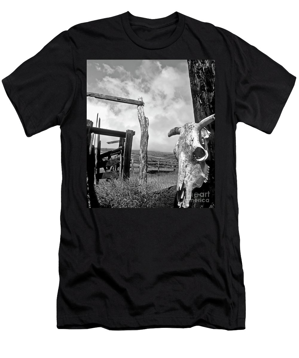 Black And White Men's T-Shirt (Athletic Fit) featuring the photograph Guardian Spirit by Jim Cazel