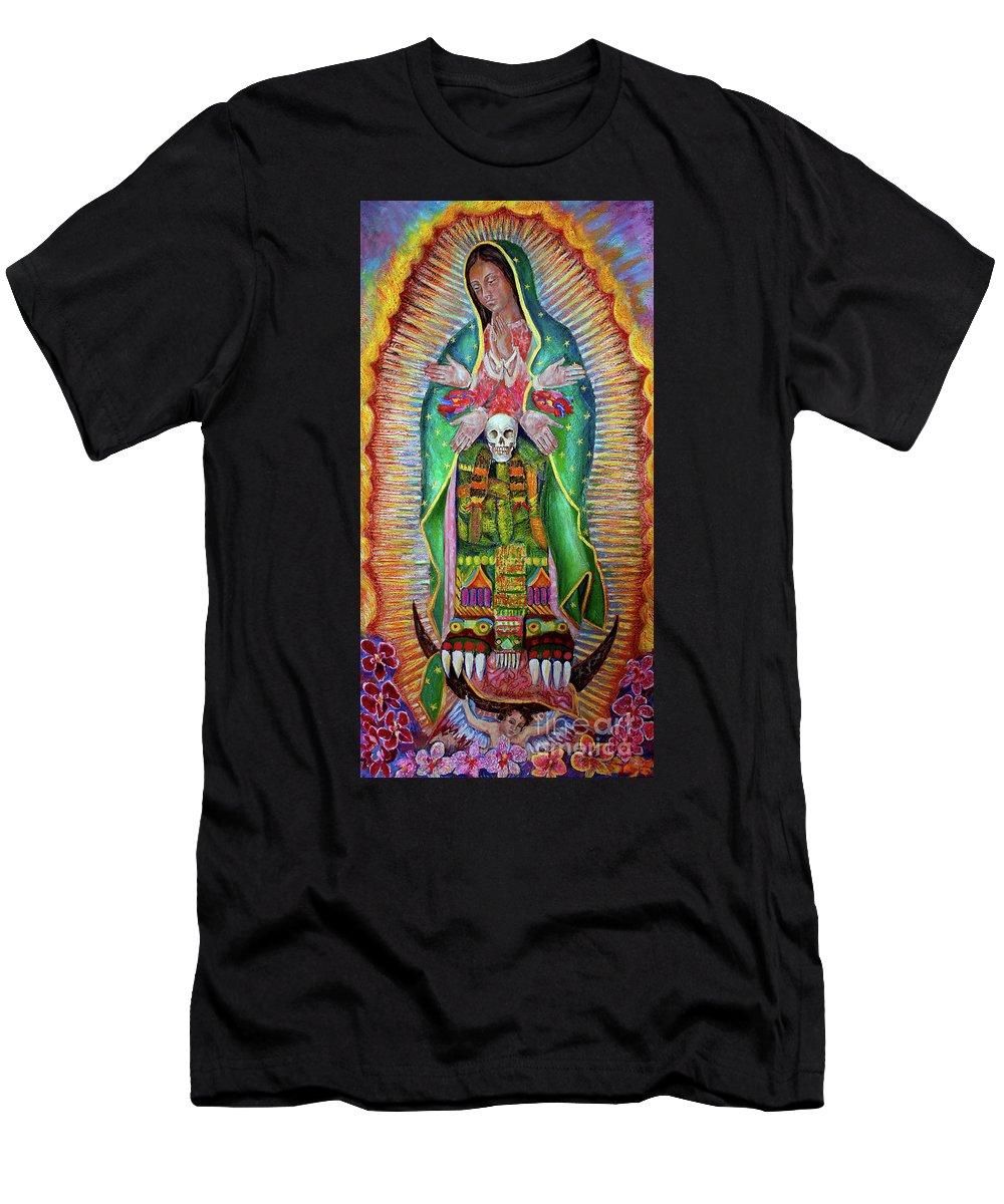 Virge Men's T-Shirt (Athletic Fit) featuring the painting Guatlicue by Nancy Almazan