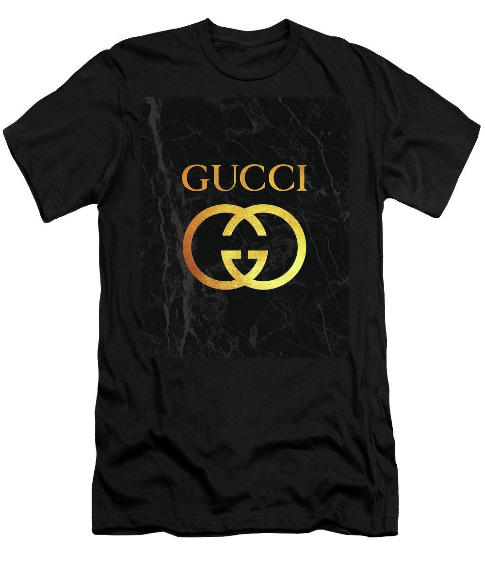 9b8dde9de Gucci Men's T-Shirt (Athletic Fit) featuring the digital art Gucci - Black