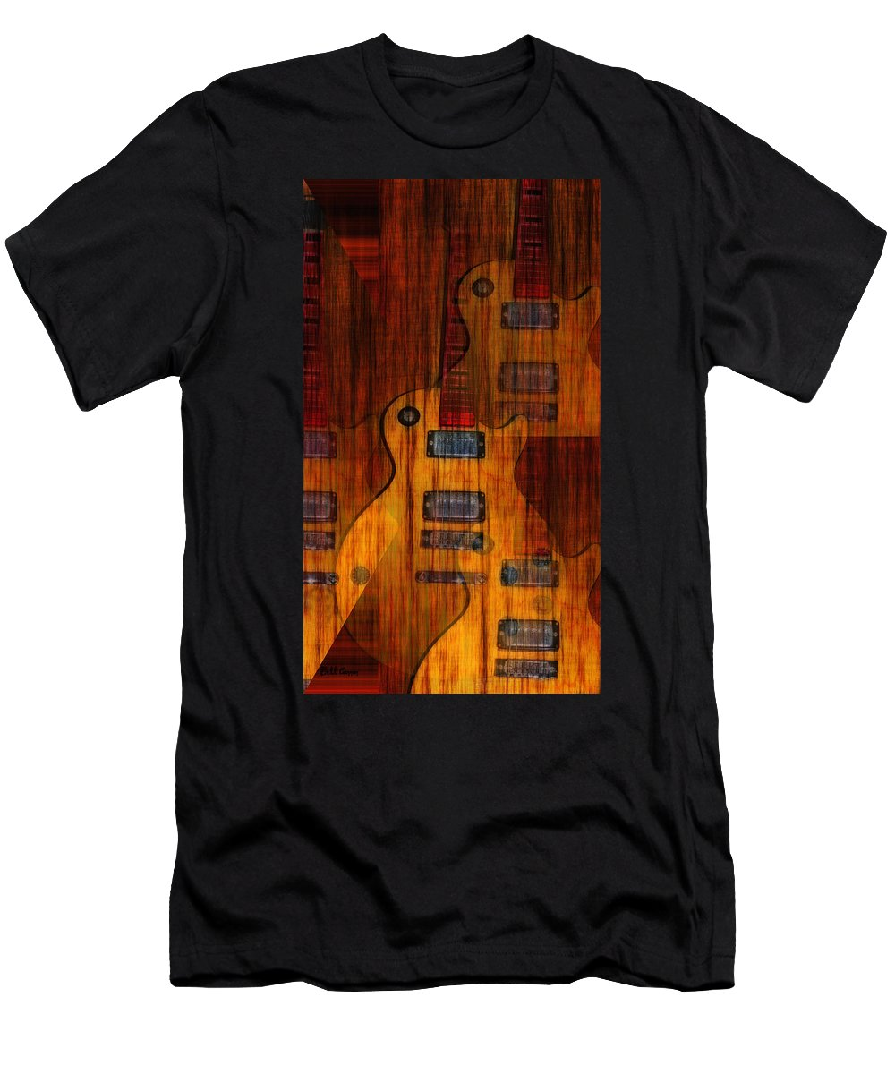 Les Paul Men's T-Shirt (Athletic Fit) featuring the photograph Guitar Army by Bill Cannon