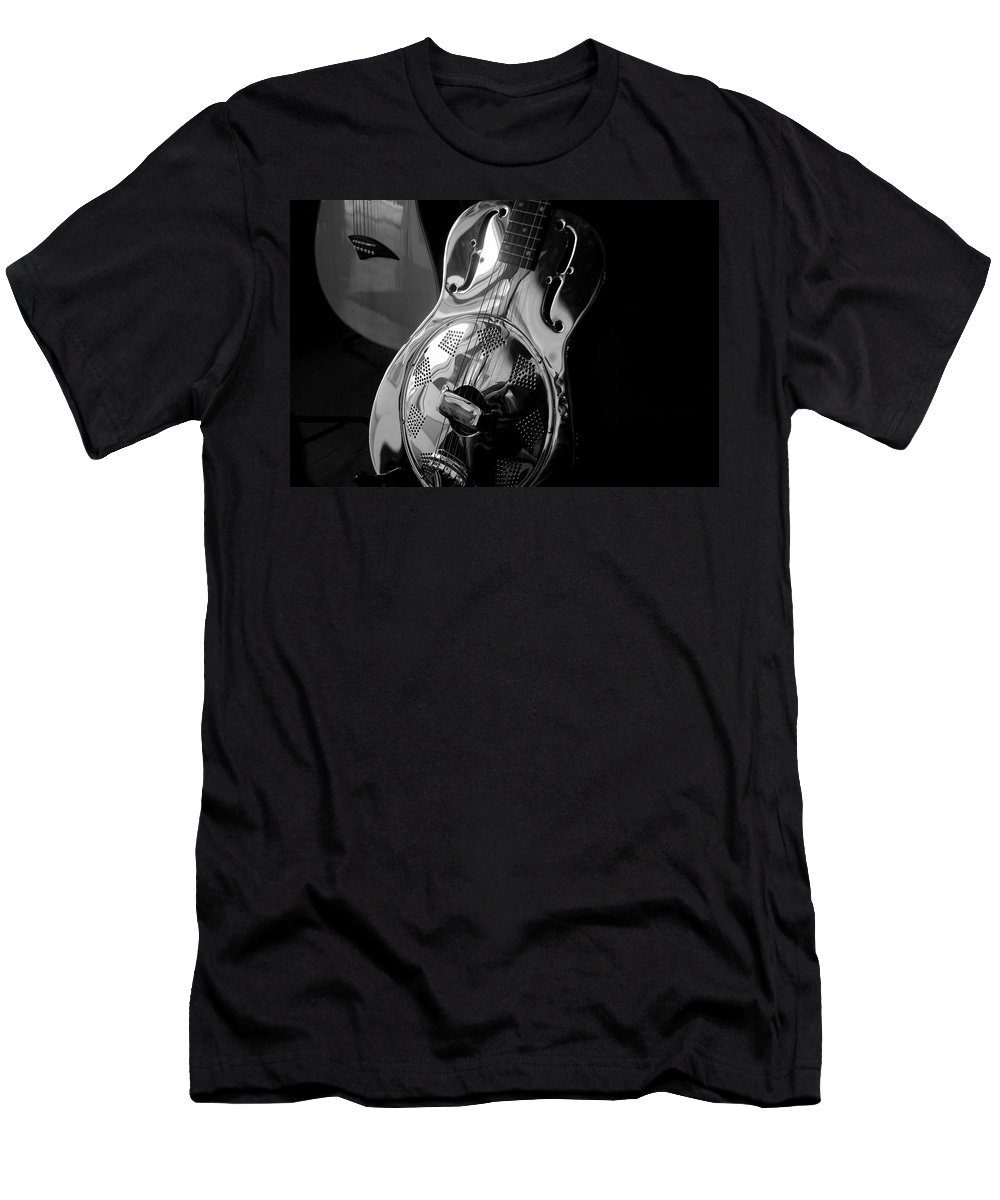 Guitars Men's T-Shirt (Athletic Fit) featuring the photograph Guitars by David Lee Thompson