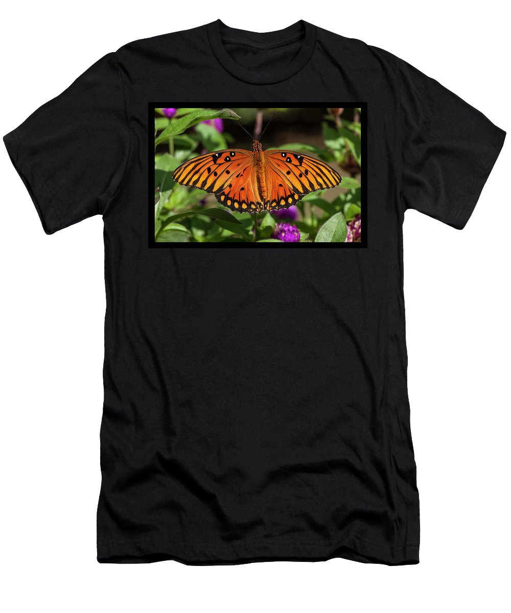 Gulf Fritillary Men's T-Shirt (Athletic Fit) featuring the photograph Gulf Fritillary by Korrine Holt