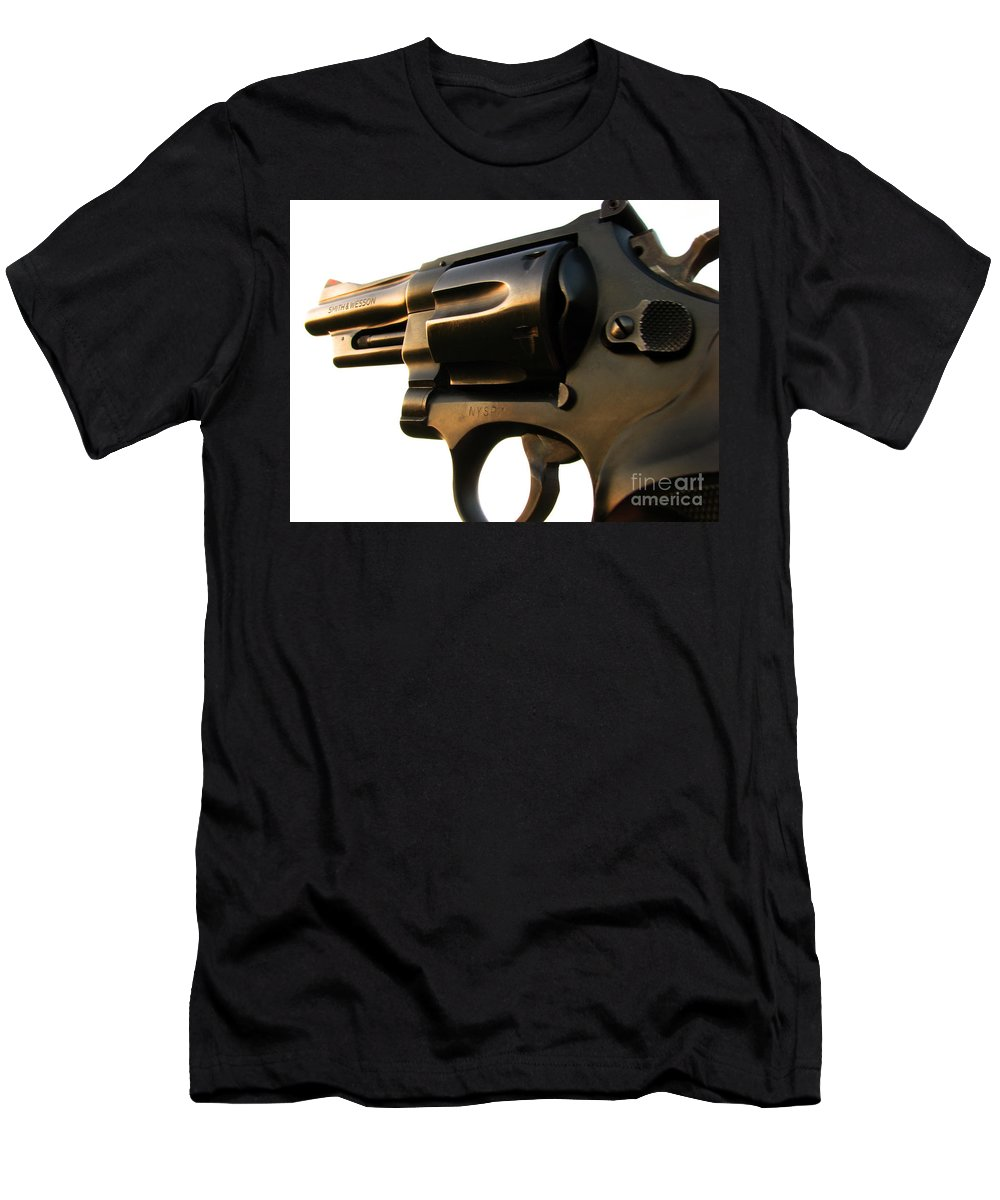 Gun Men's T-Shirt (Athletic Fit) featuring the photograph Gun Series by Amanda Barcon