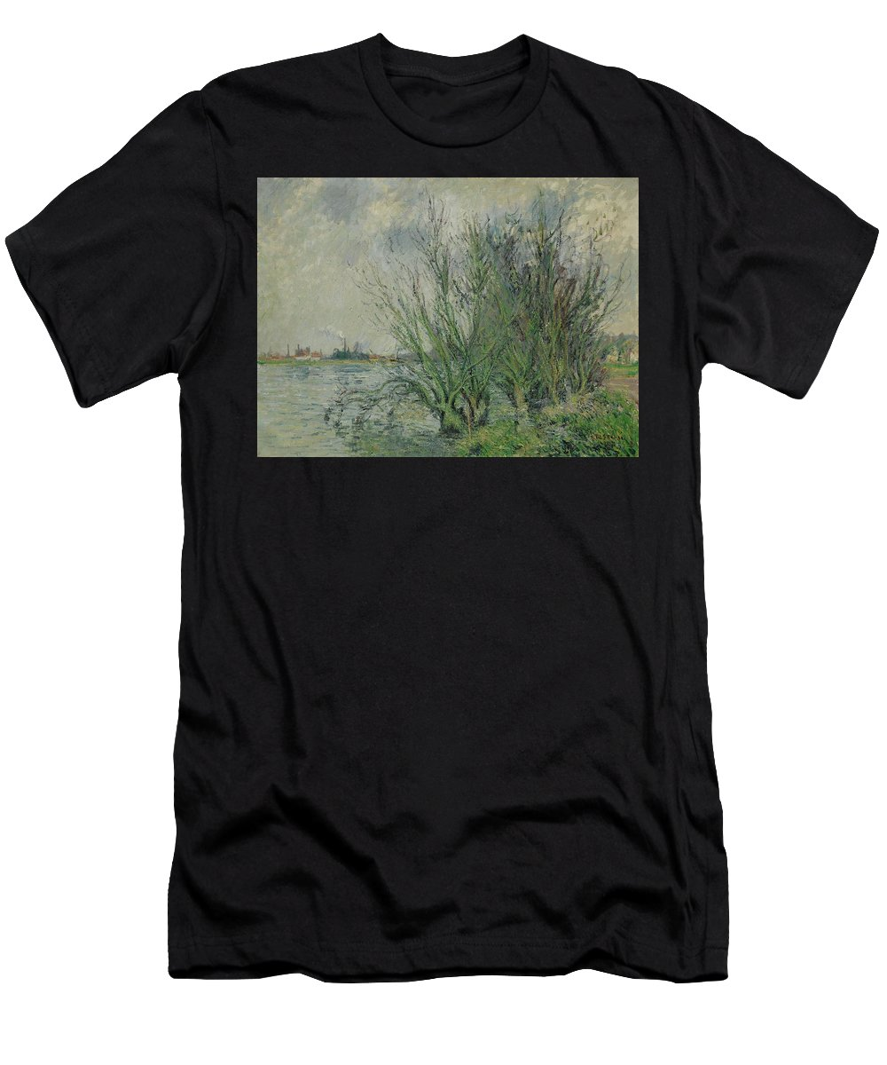 Gustave Loiseau 1865 - 1935 Willows Men's T-Shirt (Athletic Fit) featuring the painting Gustave Loiseau 1865 - 1935 Willows, Edges Oise Or On The Banks Of The Oise by Adam Asar