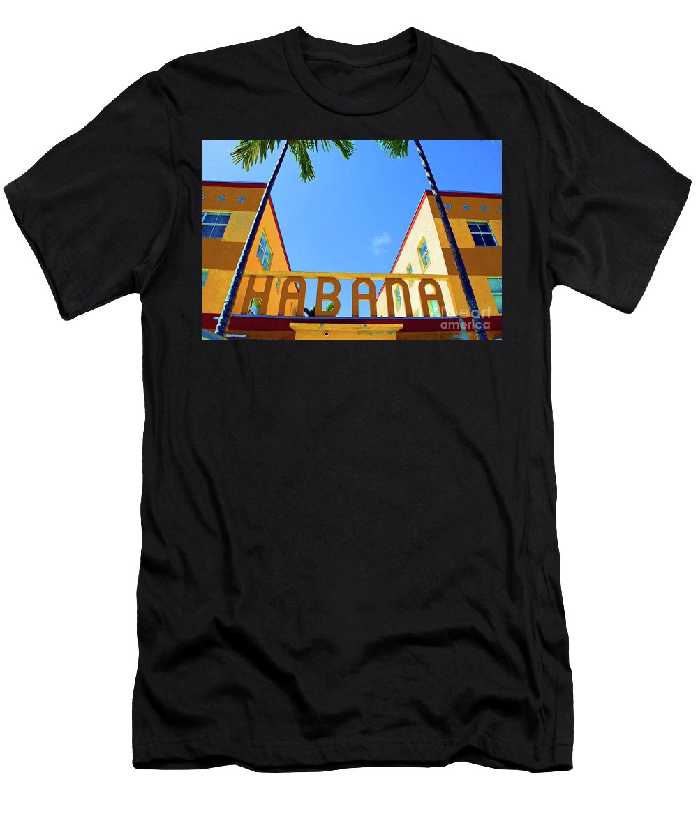 Habana Men's T-Shirt (Athletic Fit) featuring the photograph Habana Condos by Jost Houk