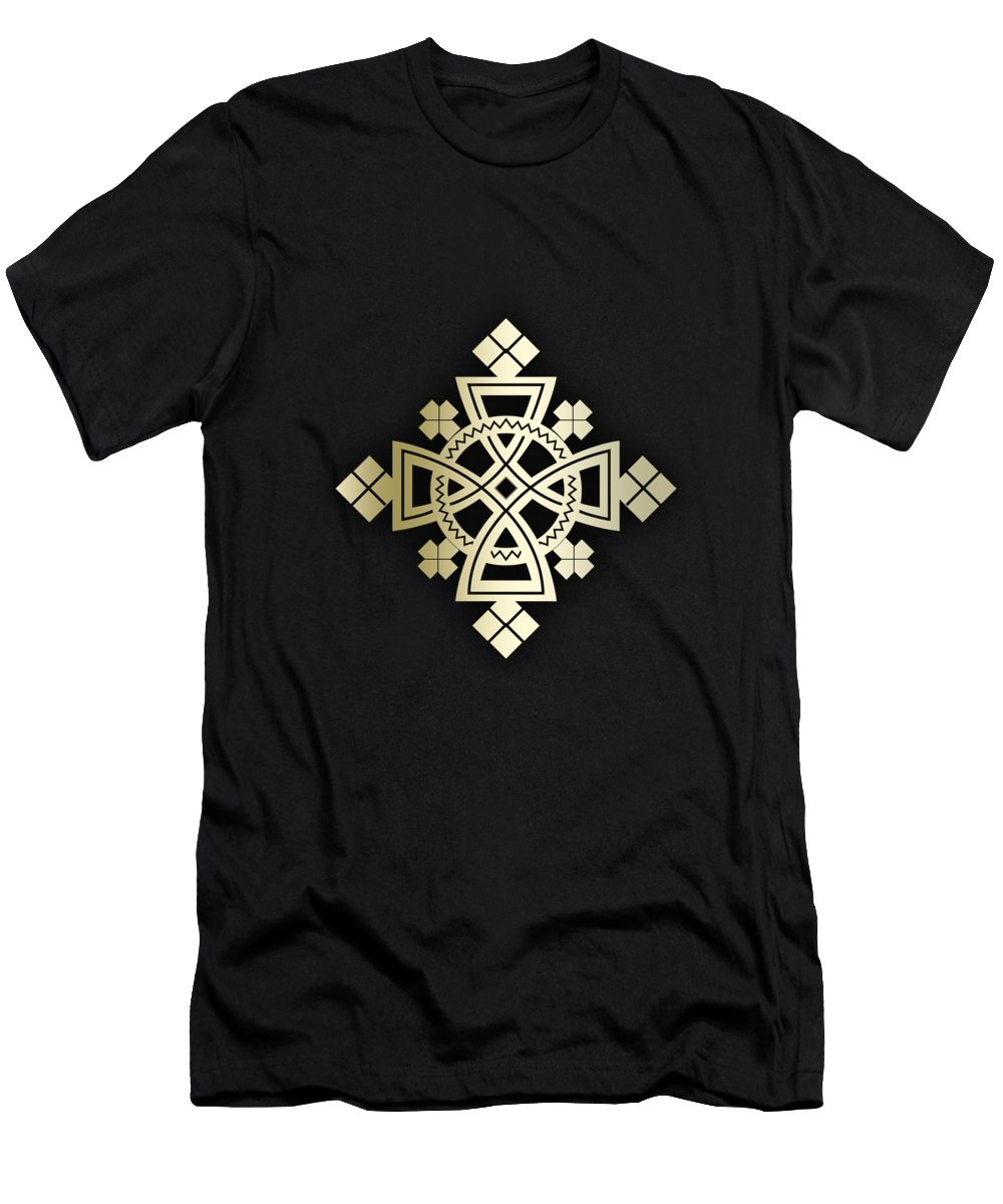 Habesha Men's T-Shirt (Athletic Fit) featuring the digital art Habesha Holy Cross by Filmon Tesfatsion