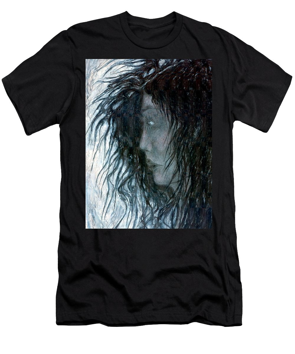 Psychedelic Men's T-Shirt (Athletic Fit) featuring the drawing Hair by Wojtek Kowalski