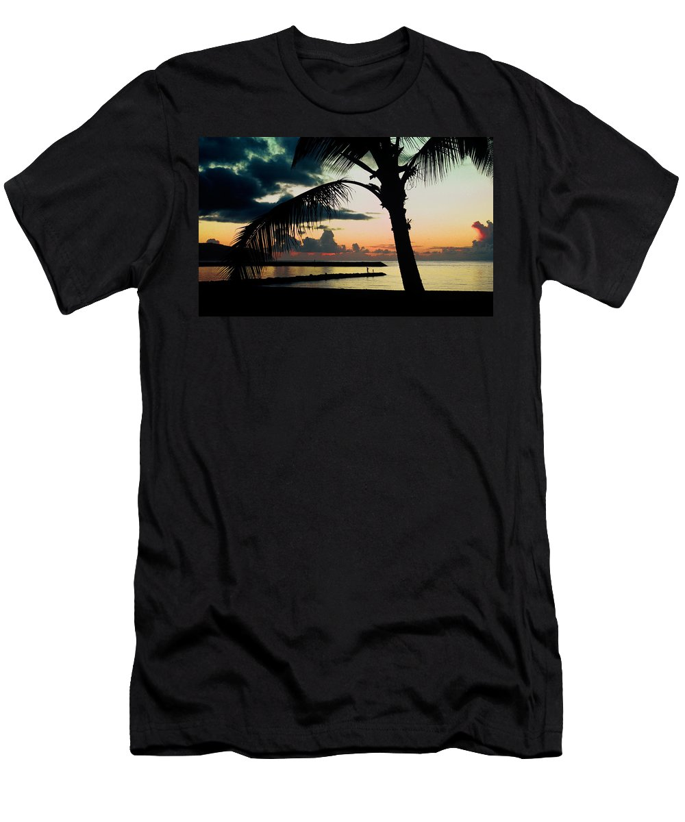 Haleiwa Men's T-Shirt (Athletic Fit) featuring the photograph Haleiwa by Steven Sparks