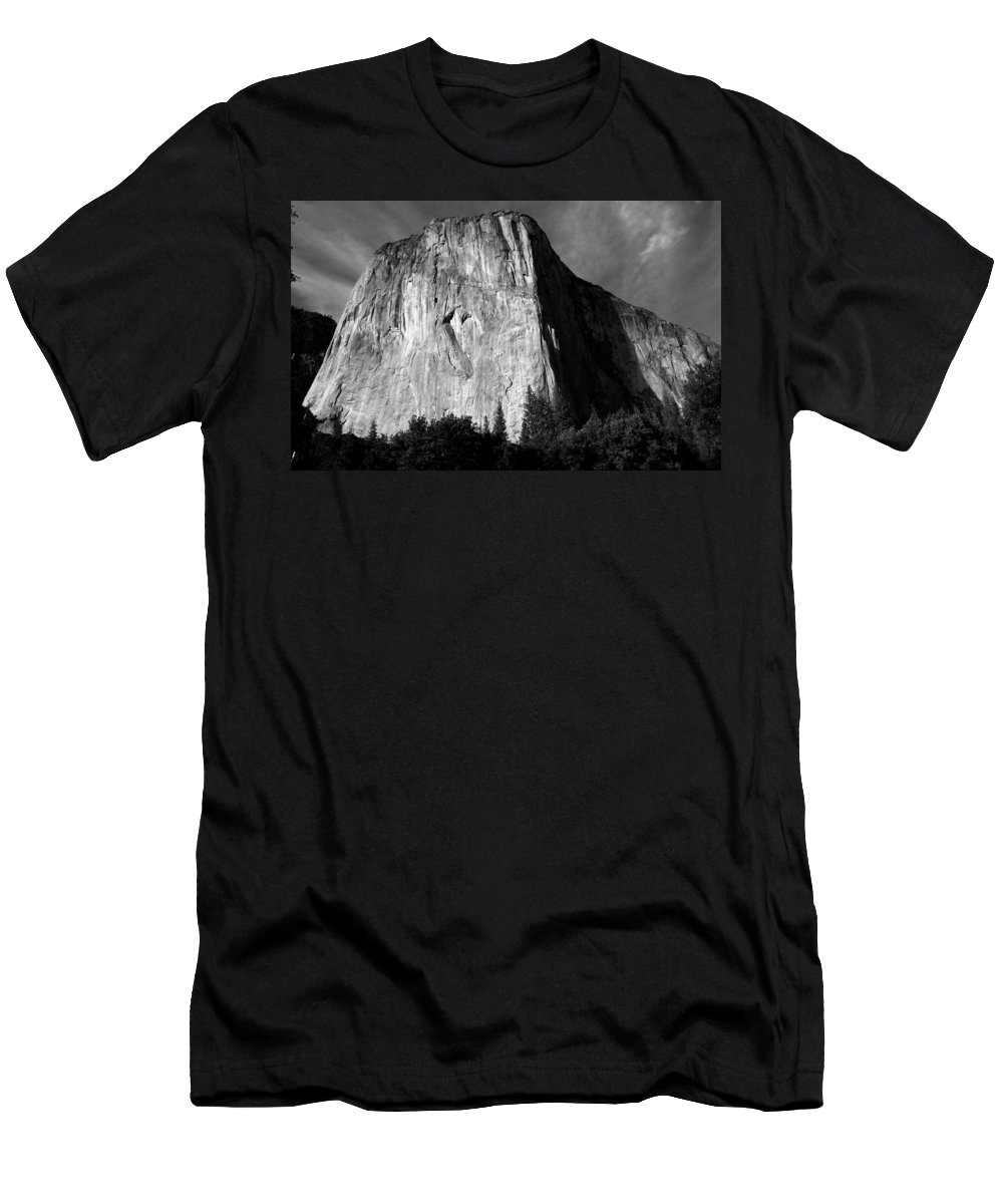 Landscape Men's T-Shirt (Athletic Fit) featuring the photograph El Capitan - Yosemite, Ca by Larry Day