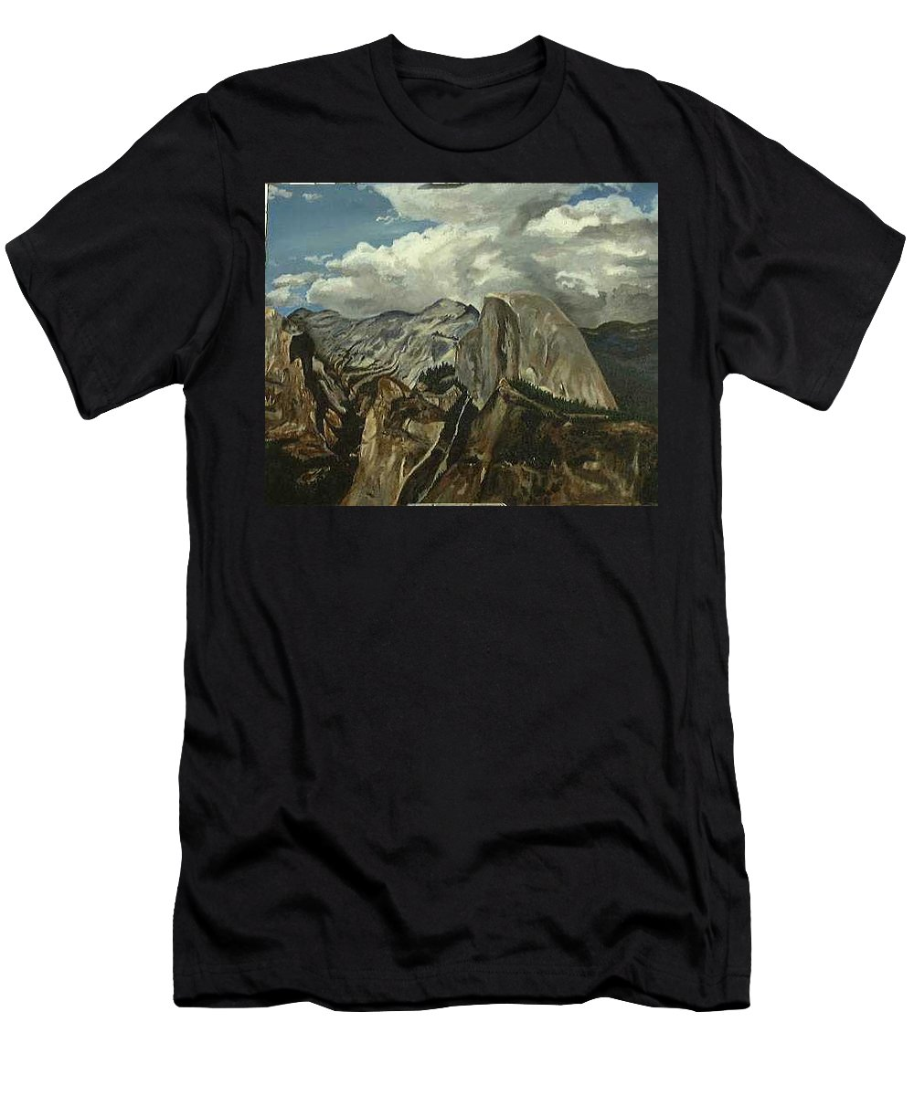 Men's T-Shirt (Athletic Fit) featuring the painting Half Dome by Travis Day