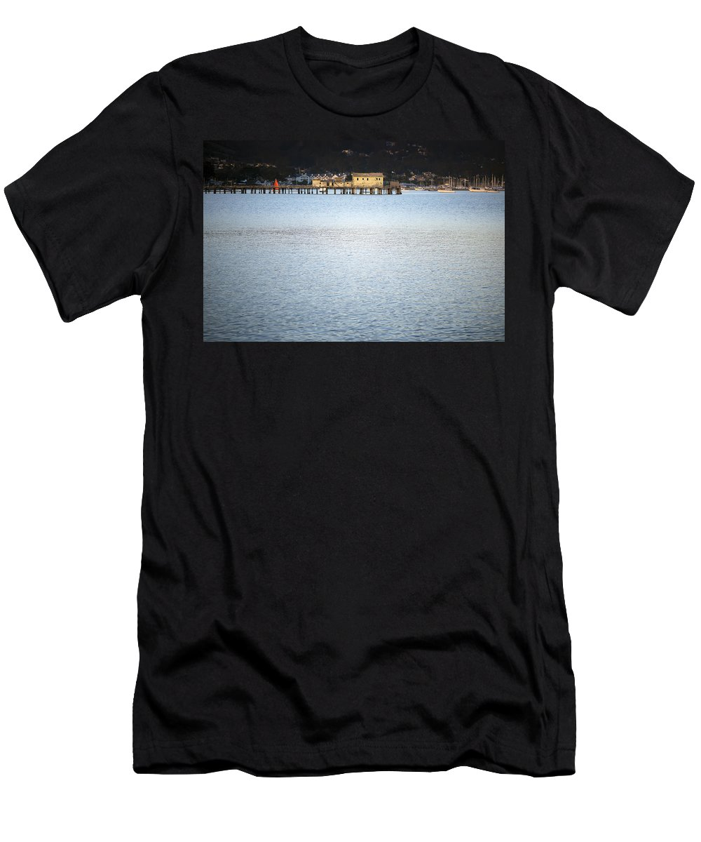 Pacific Men's T-Shirt (Athletic Fit) featuring the photograph Half Moon Bay by Paula Barrickman