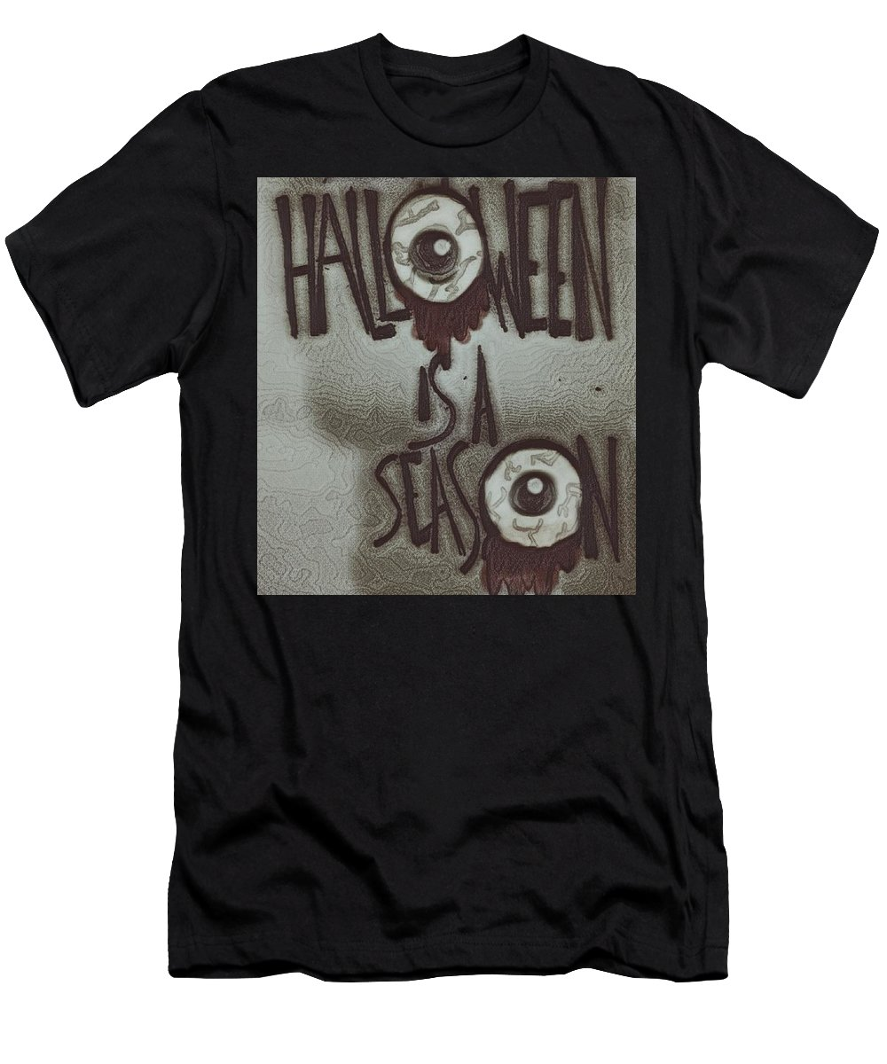 Men's T-Shirt (Athletic Fit) featuring the drawing Halloween. by Brittni Bailie