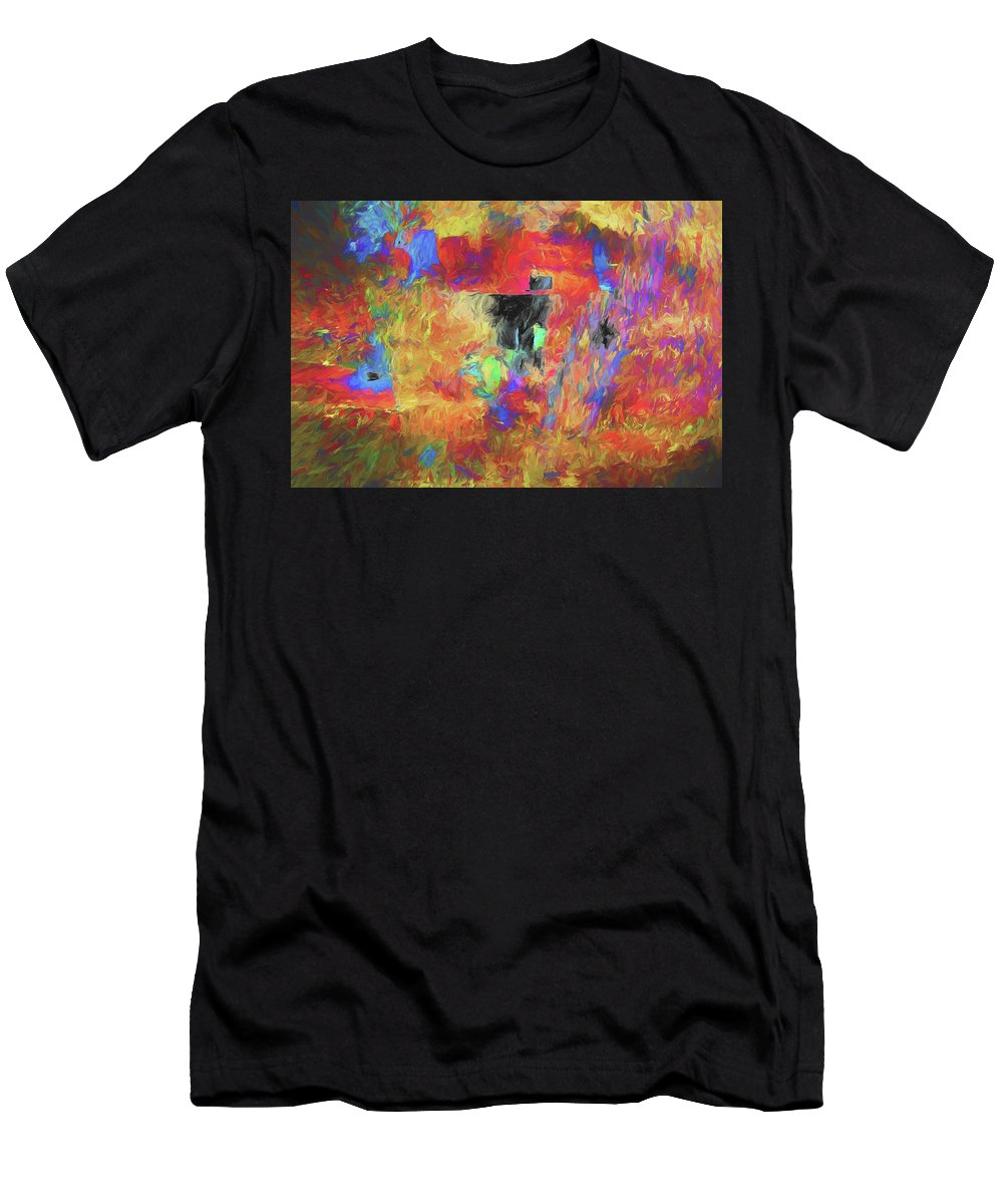 Abstract Men's T-Shirt (Athletic Fit) featuring the digital art Hallucination 7976 by Matt Cegelis