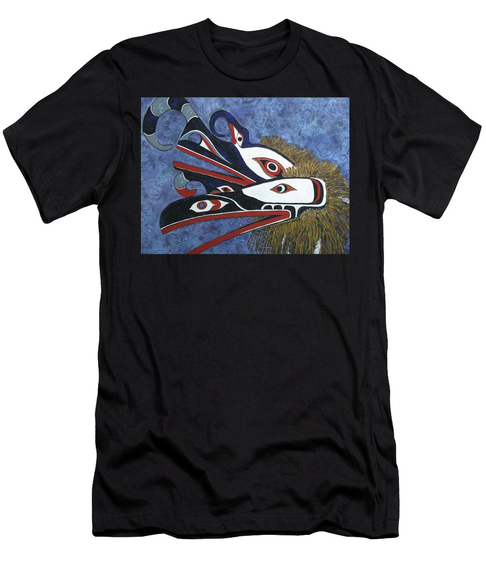 North West Native Men's T-Shirt (Athletic Fit) featuring the painting Hamatsa Masks by Elaine Booth-Kallweit
