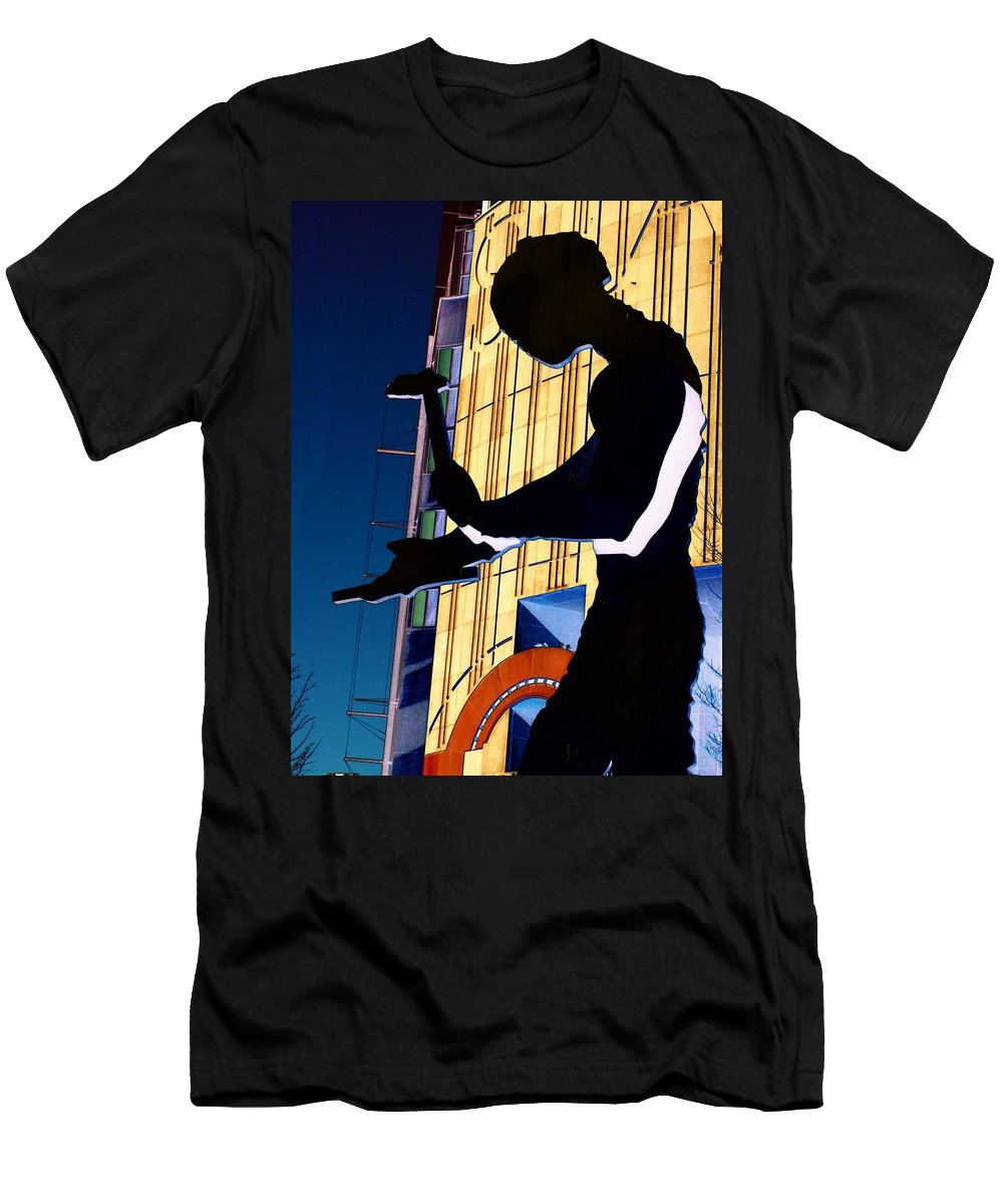 Seattle Men's T-Shirt (Athletic Fit) featuring the digital art Hammering Man by Tim Allen