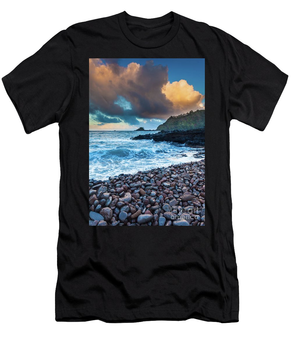 America Men's T-Shirt (Athletic Fit) featuring the photograph Hana Bay Pebble Beach by Inge Johnsson