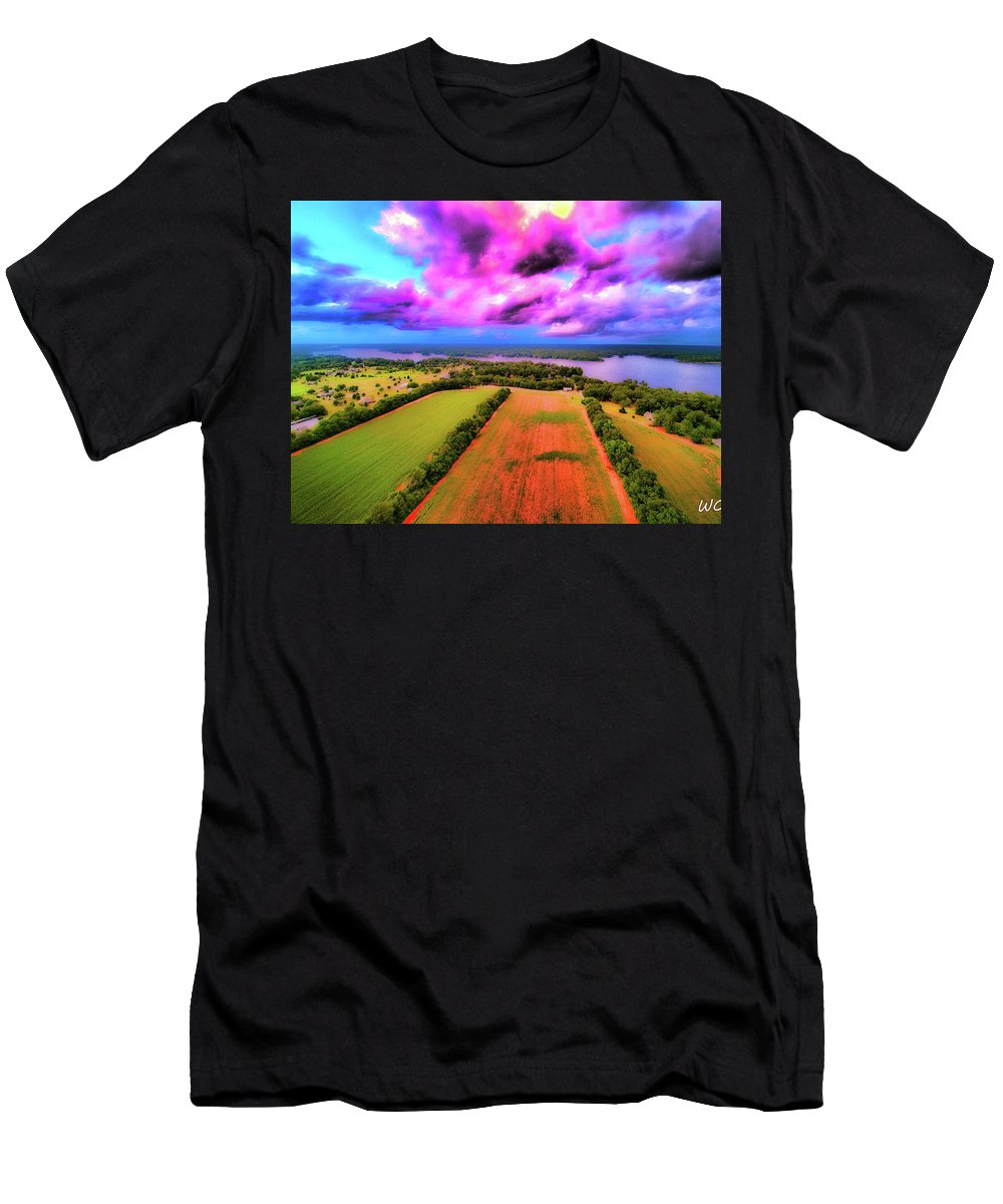 Lake Jordan Men's T-Shirt (Athletic Fit) featuring the photograph Hand Of God by Dax Whitaker