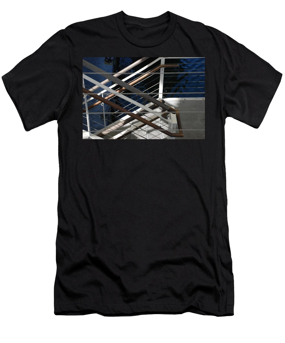 Water Men's T-Shirt (Athletic Fit) featuring the photograph Hand Rails by Rob Hans