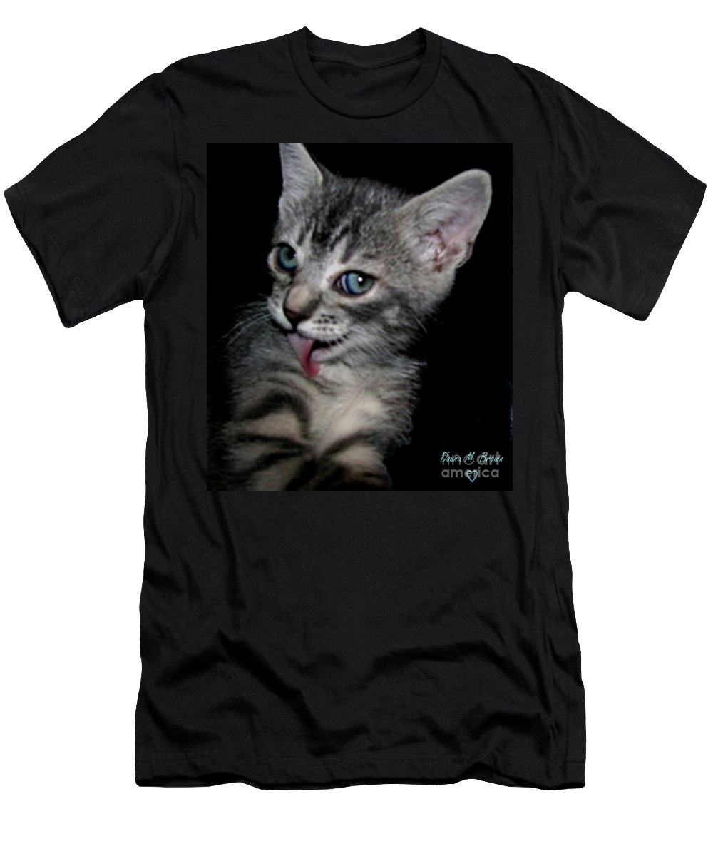 Animal Men's T-Shirt (Athletic Fit) featuring the photograph Handsome by Donna Brown