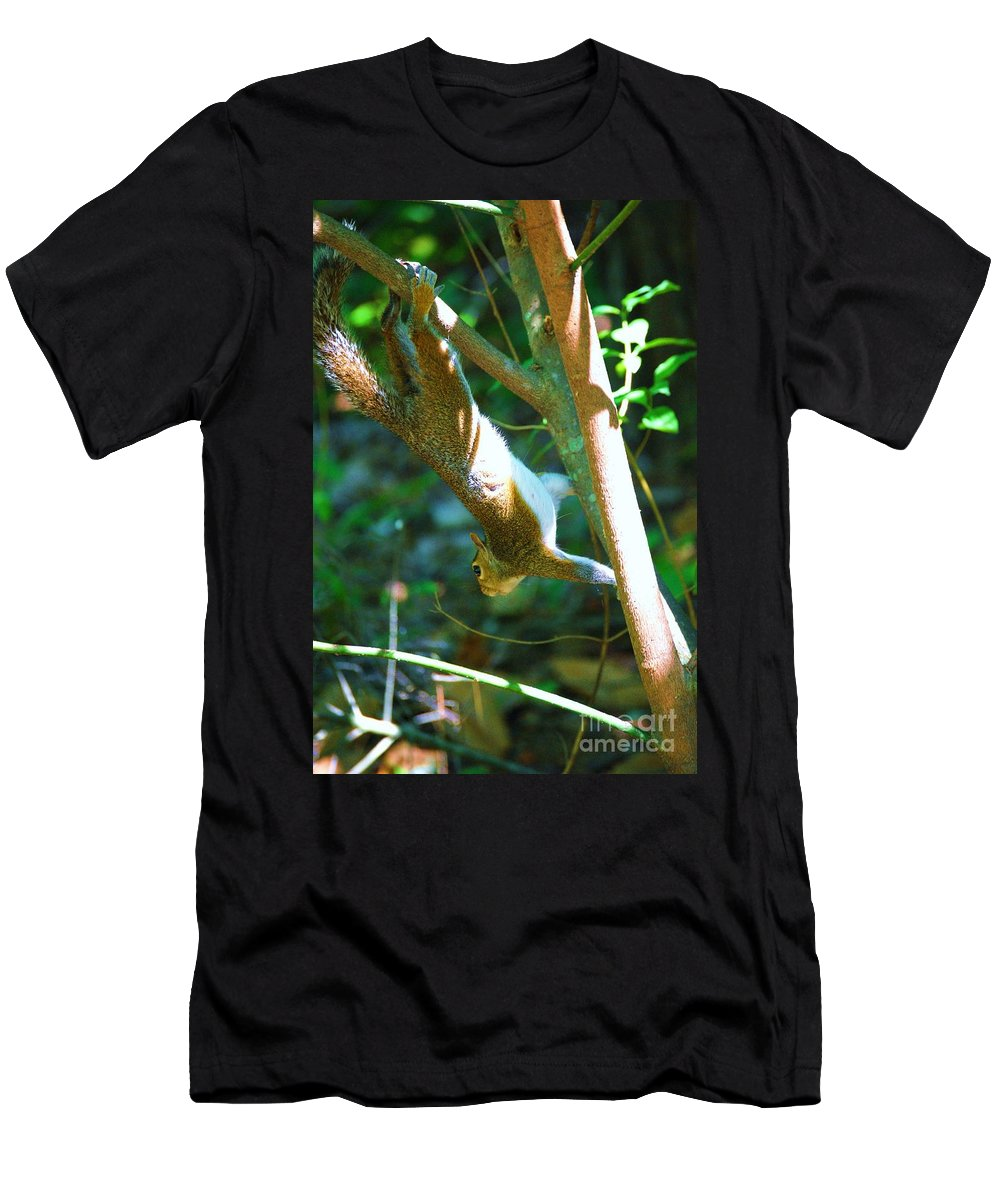 Wildlife Men's T-Shirt (Athletic Fit) featuring the photograph Hanging Around by Eric Liller