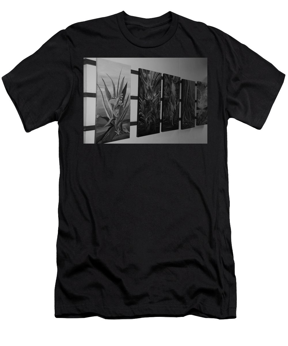 Black And White Men's T-Shirt (Athletic Fit) featuring the photograph Hanging Art by Rob Hans