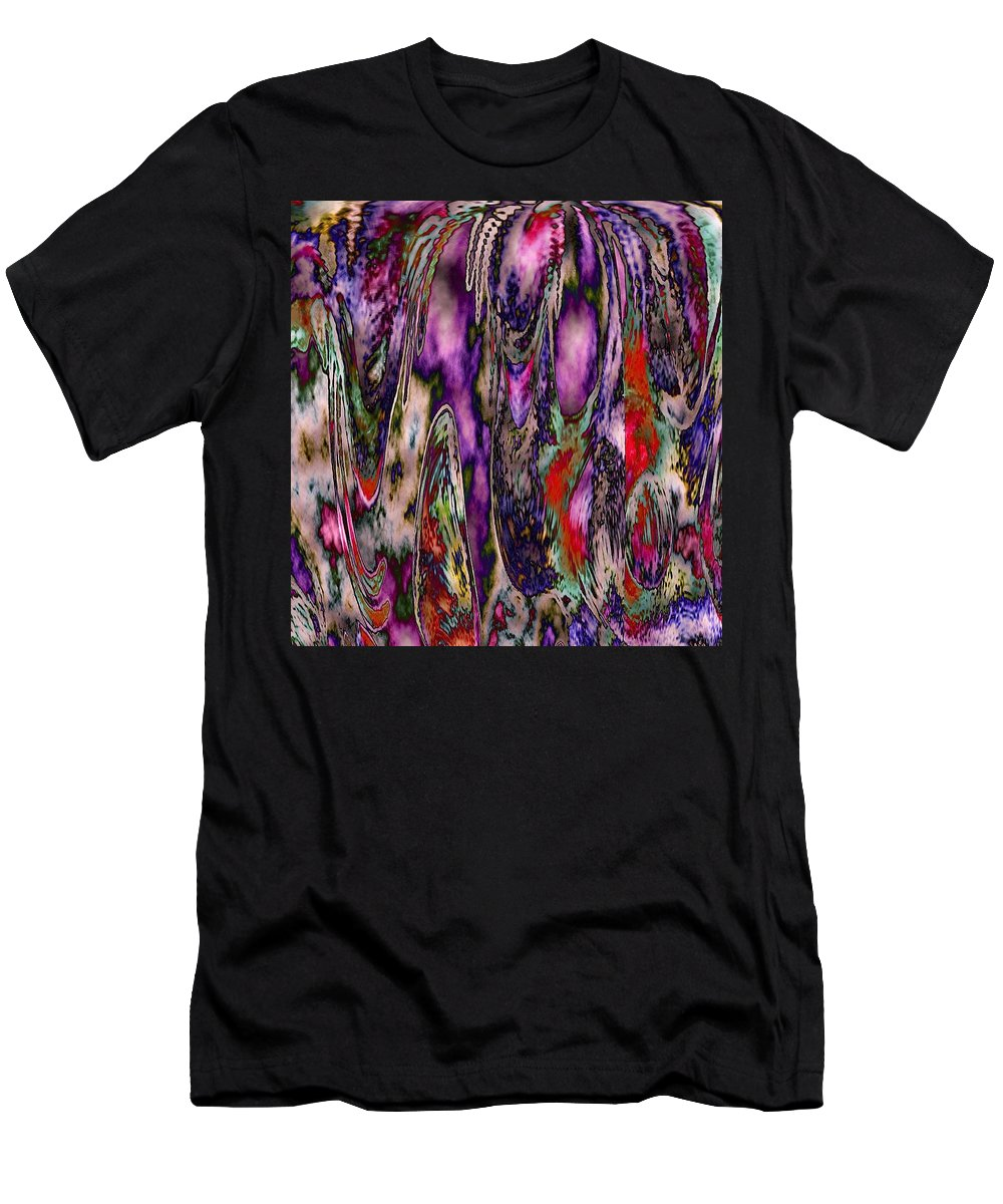 Abstract Orchard Men's T-Shirt (Athletic Fit) featuring the photograph Hanging Gardens 2 by Elizabeth Tillar