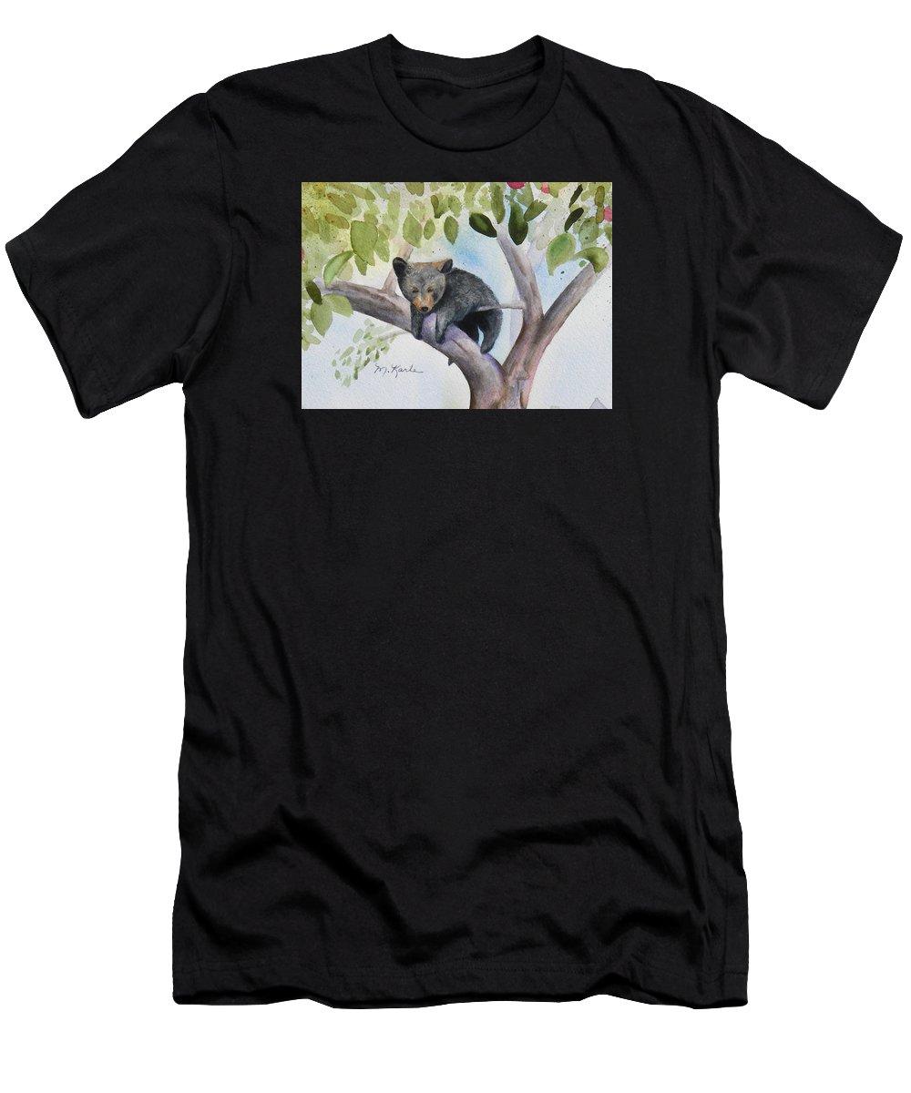 Bear Men's T-Shirt (Athletic Fit) featuring the painting Hanging Out by Marsha Karle