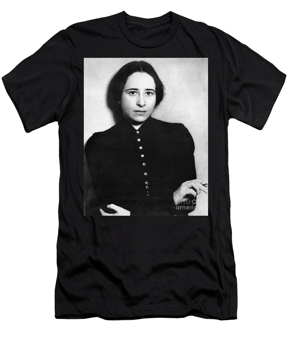 1930 Men's T-Shirt (Athletic Fit) featuring the photograph Hannah Arendt (1906-1975) by Granger