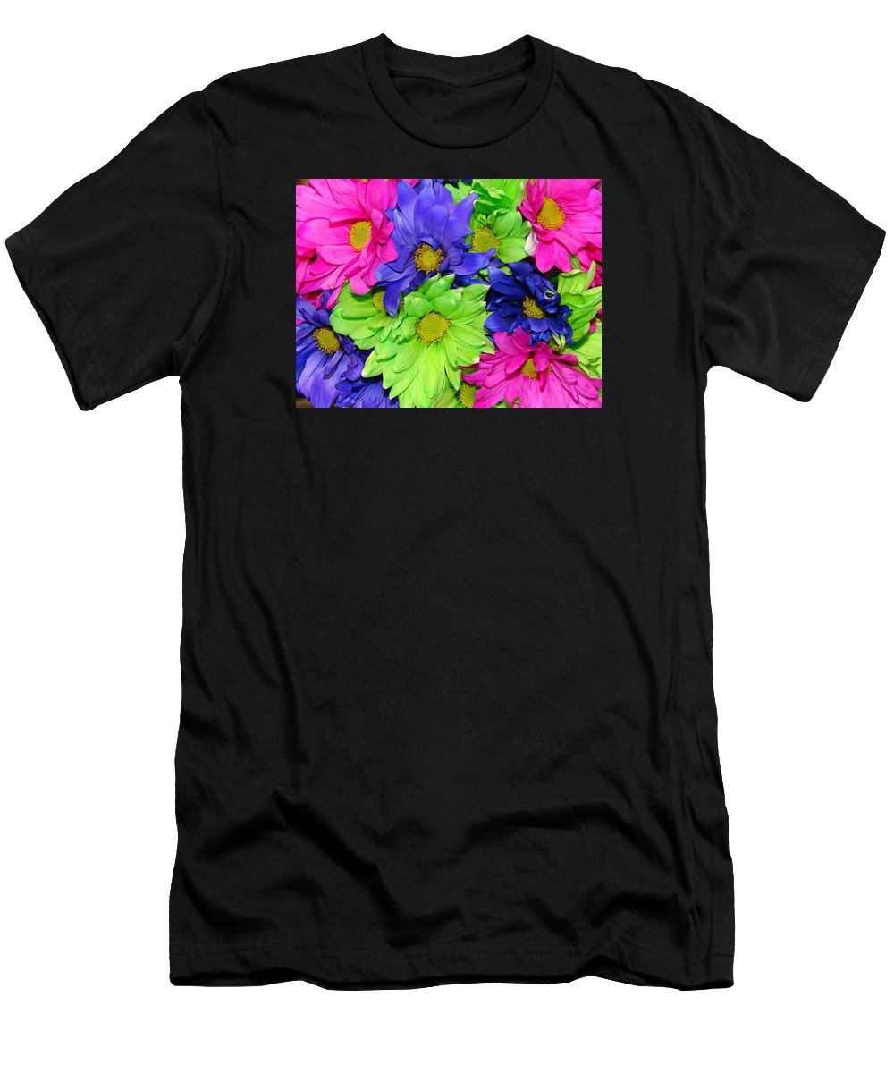 Flowers Men's T-Shirt (Athletic Fit) featuring the photograph Happiness by J R  Seymour