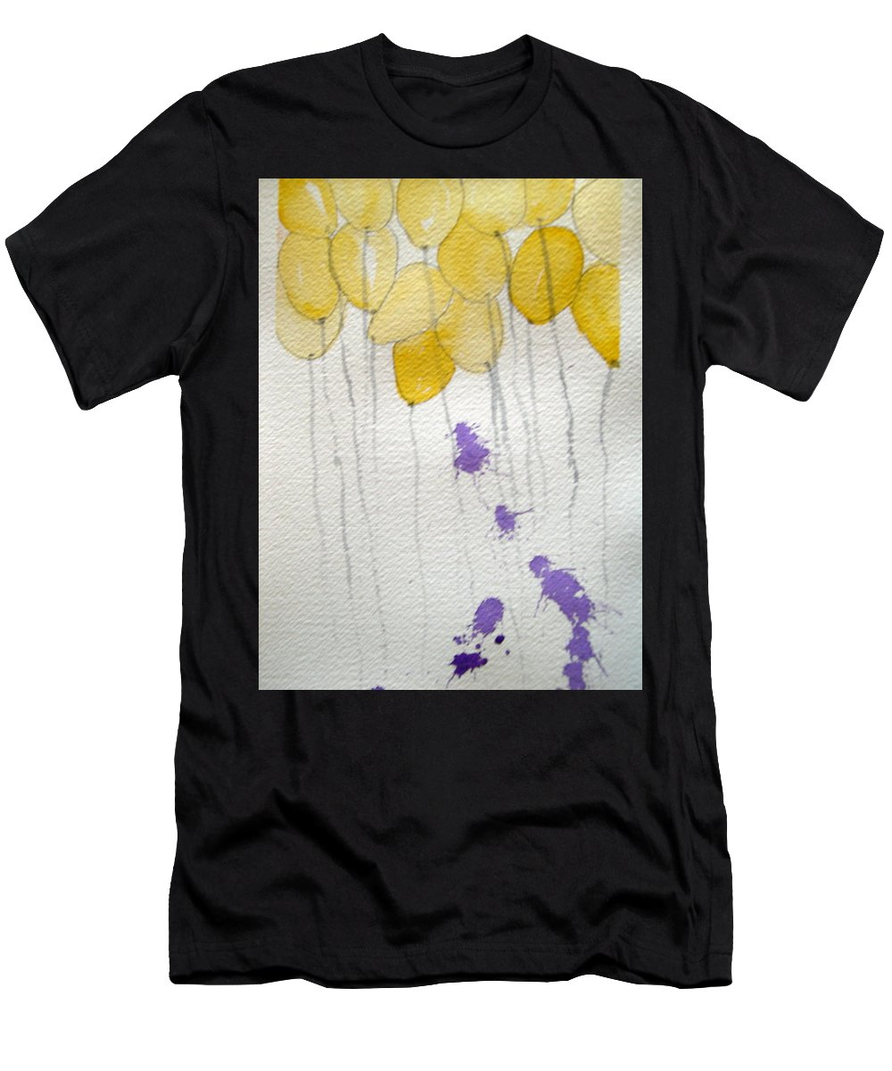 Balloon Celebrate Fun Happy Play Birthday Men's T-Shirt (Athletic Fit) featuring the painting Happy Birthday Ashleigh by Patricia Caldwell