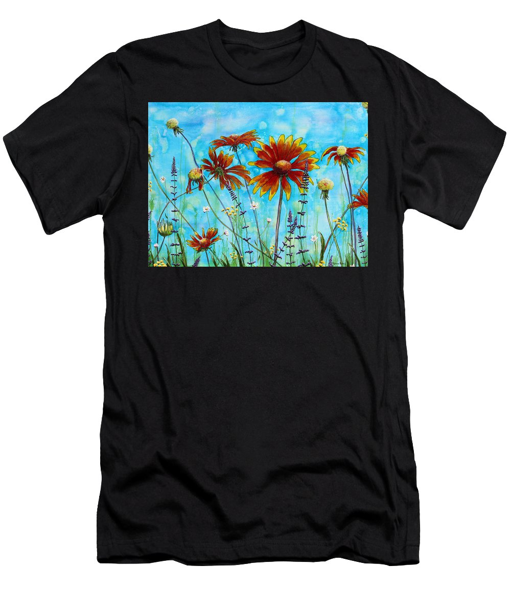 Contemporary Men's T-Shirt (Athletic Fit) featuring the painting Happy Blanket by Patricia Pasbrig