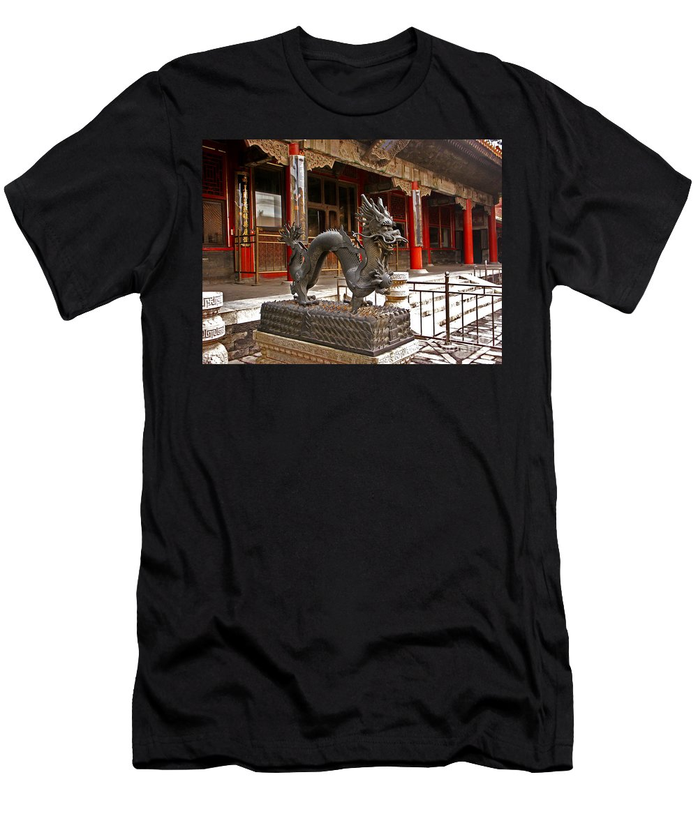 Dragon Men's T-Shirt (Athletic Fit) featuring the photograph Happy Dragon by Roberta Bragan