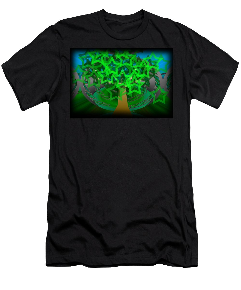 Tree Men's T-Shirt (Athletic Fit) featuring the digital art Happy Tree by XERXEESE Color Schemes