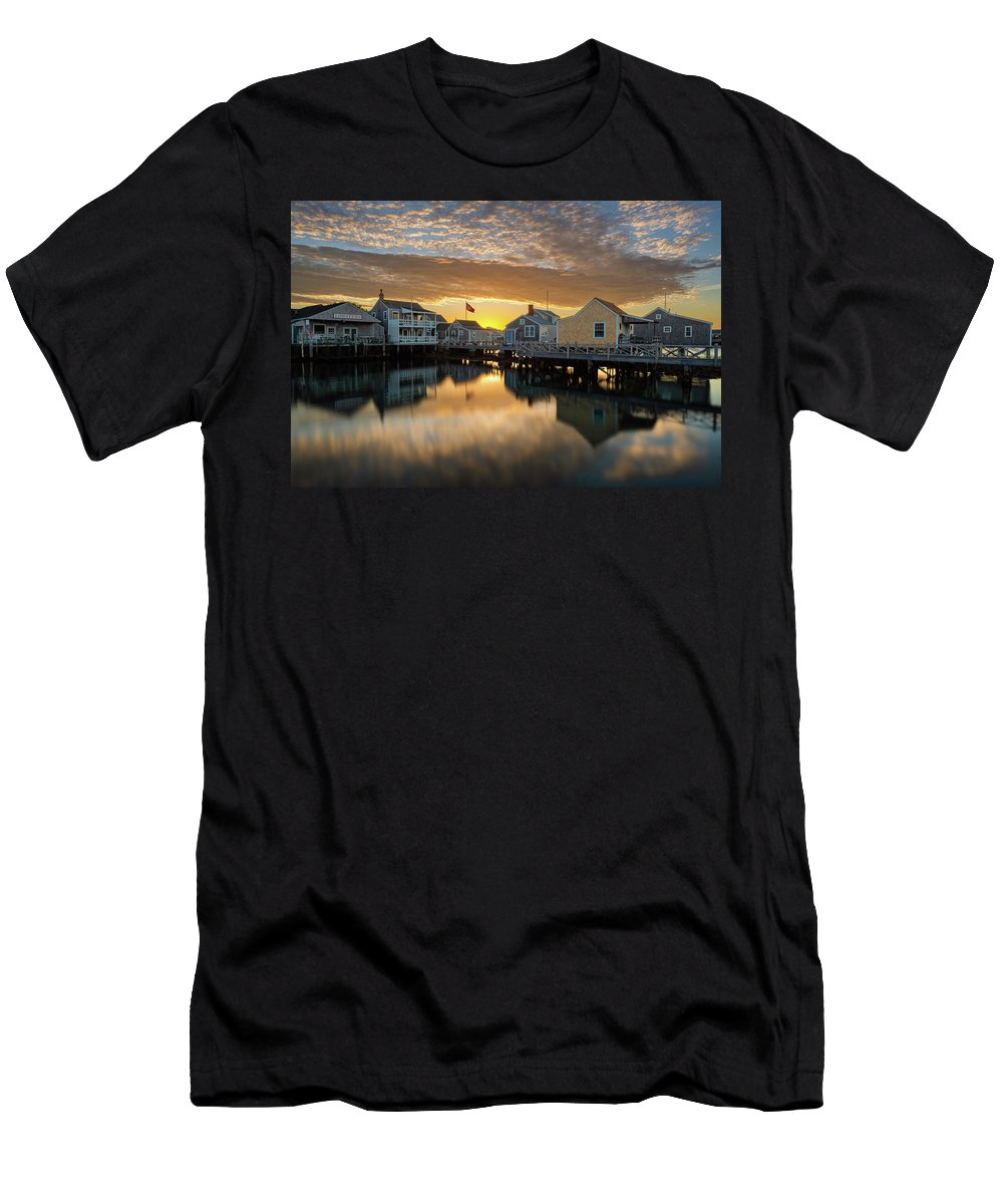 Cape Cod Men's T-Shirt (Athletic Fit) featuring the photograph Harbor View by Michael Blanchette