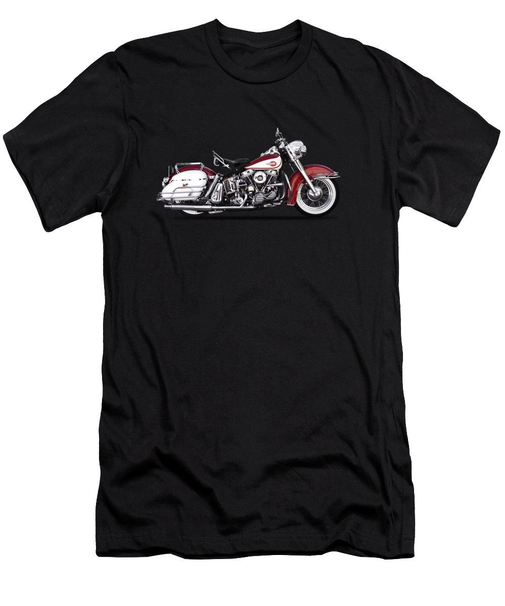 Harley Davidson Men's T-Shirt (Athletic Fit) featuring the photograph Harley Model Fl 1960 by Mark Rogan