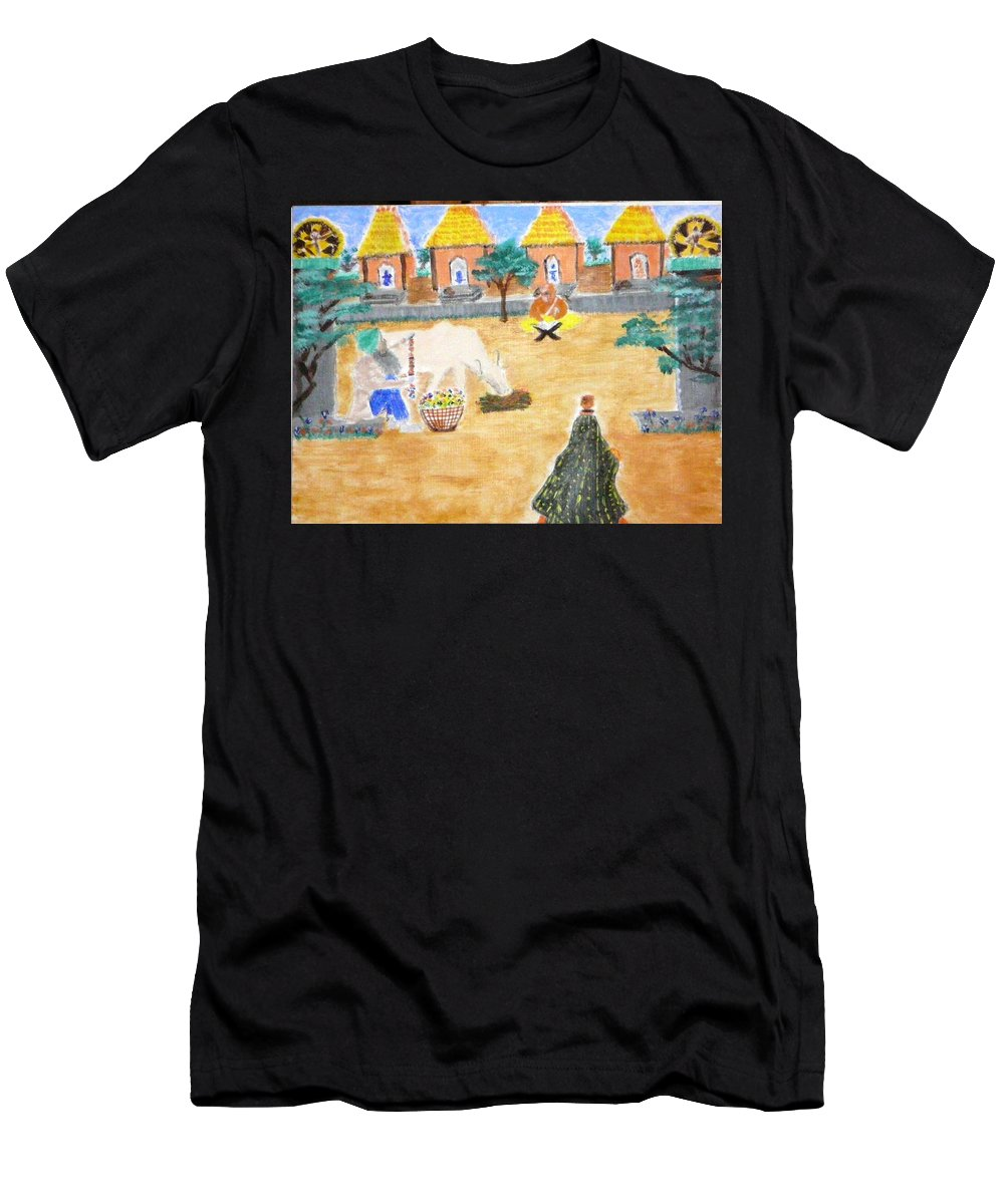 Men's T-Shirt (Athletic Fit) featuring the painting Harmony by R B