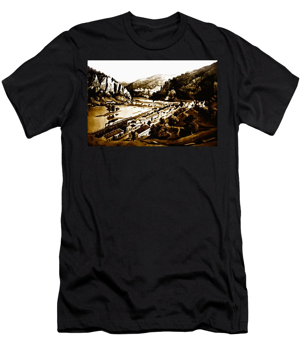 Harpers Ferry Men's T-Shirt (Athletic Fit) featuring the photograph Harpers Ferry by Bill Cannon