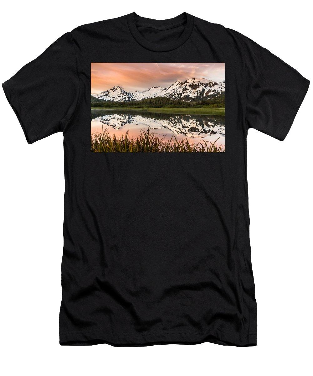 Alaska Men's T-Shirt (Athletic Fit) featuring the photograph Hartney Bay, Cordova by Scott Slone