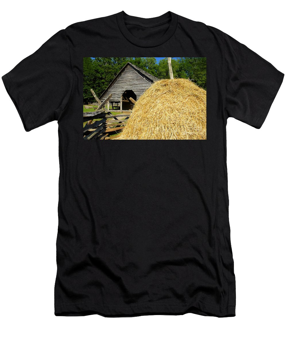 Harvest Men's T-Shirt (Athletic Fit) featuring the photograph Harvest by David Lee Thompson